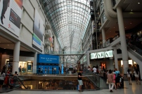 The Eaton Centre, a mammoth shopping mall.