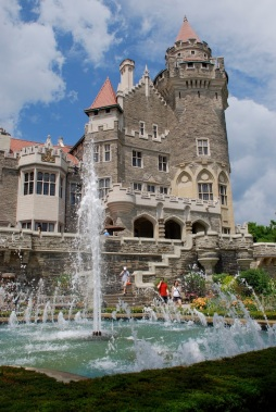 Back of Casa Loma from the gardens