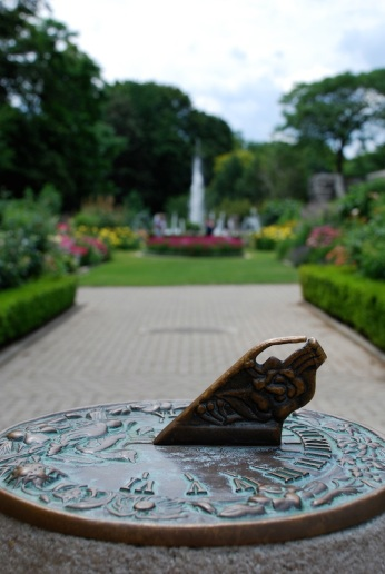 Sundial in gardens