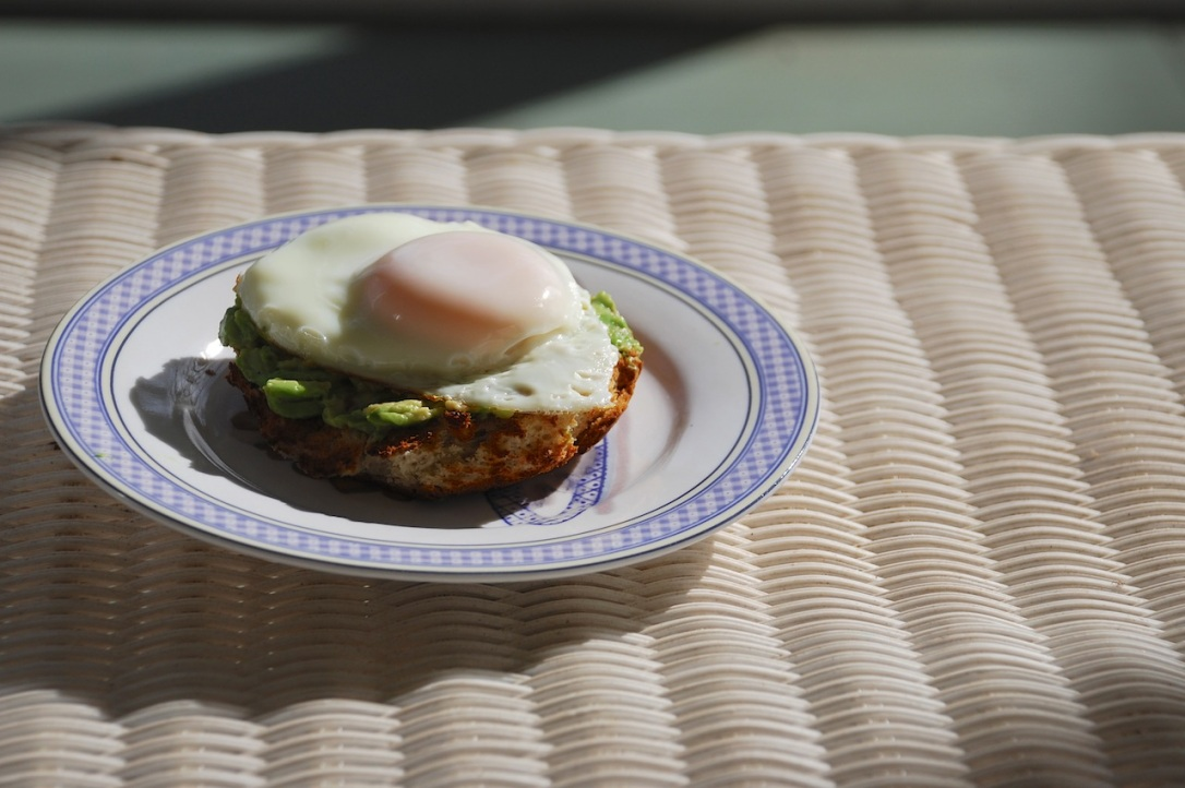 Egg, avocado, and toast