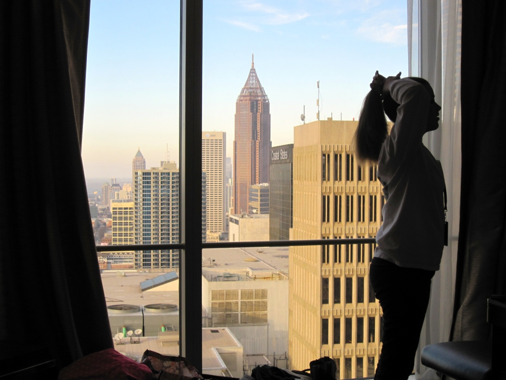 Atlanta skyline from the Westin