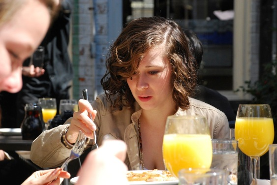 Bottomless mimosas at Eli's Table.
