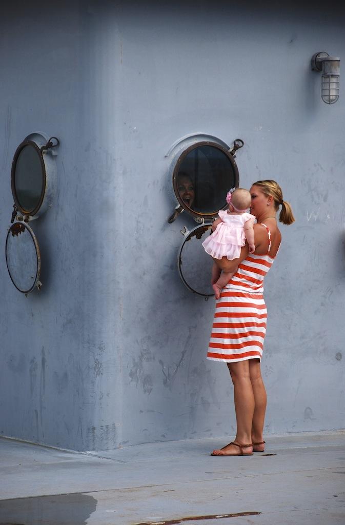 USS Yorktown, Mom & Daughter