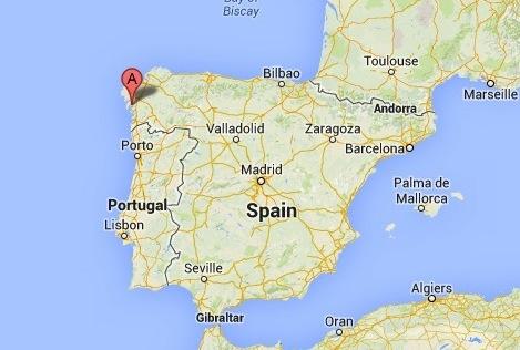 Galicia, Spain - map