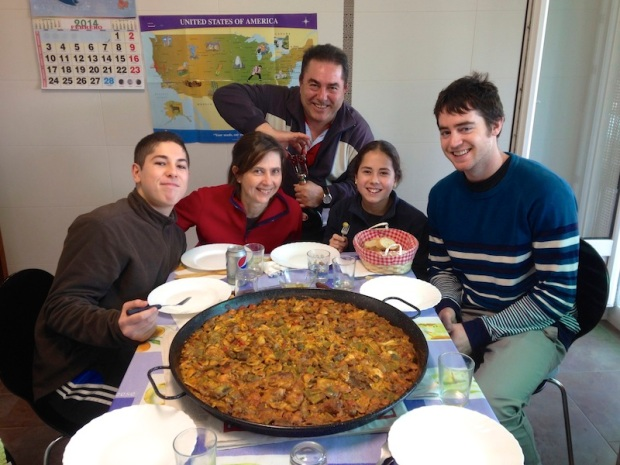 The best Cantabrian company and paella a girl could ask for