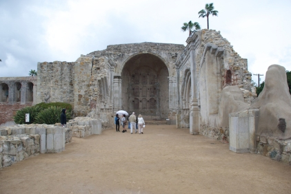 "Ruins of ""The Great Stone Church,"" finished in 1806 and destroyed by earthquake in 1812.."