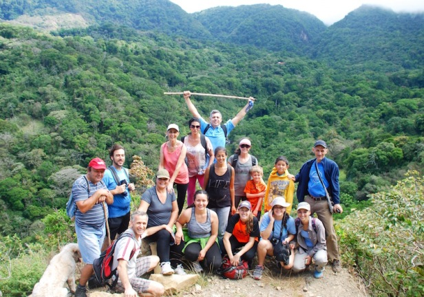 Community hike on the Sendero Pacifico, organized by the San Luis Development Association