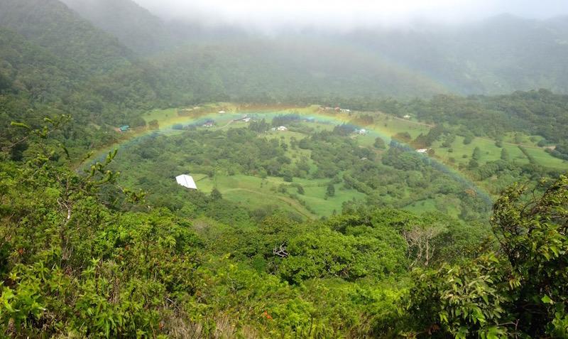 San Luis with rainbow